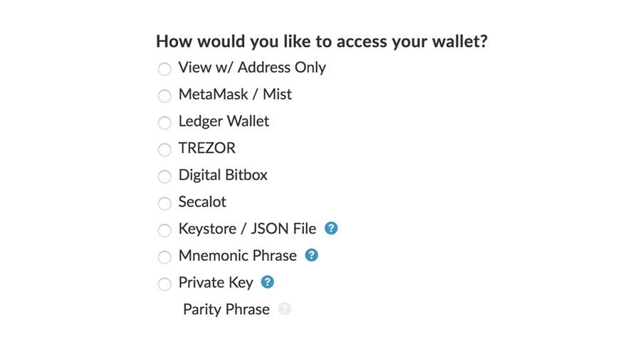 Non-Hosted Web Wallets